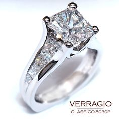 Engagement ring with channel band