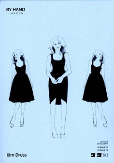 Sewing Pattern, By Hand London, Kim Dress Lovely Dresses, Simple Dresses, Easy Dress, Diy Clothing, Sewing Clothes, The Globe London, By Hand London, Simple Dress Pattern, How To Make Clothes