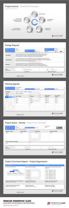 Project Management PowerPoint Templates to keep the overview of your project. #presentationload www.presentationl...