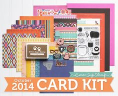 "Nichol Spohr Magouirk: Simon Says Stamp OCT 2014 Card Kit | ""FRIENDSHIP HAS IT'S PERKS"" CARD (GIVEAWAY & VIDEO)"