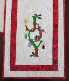 Joy Table Runner (1 of 2 for 2015) is finished. | by StitchedByMe