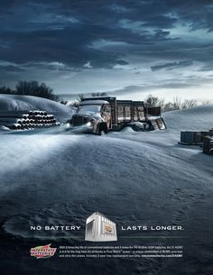 INTERSTATE BATTERIES: LASTS LONGER by Mike Campau, via Behance