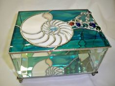 Custom Made Stained Glass Jewelry Boxes ~~ Flower / Bird Designs