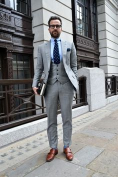Grey suit, Brown Shoes | My style | Pinterest | Shoes, Brown and Suits