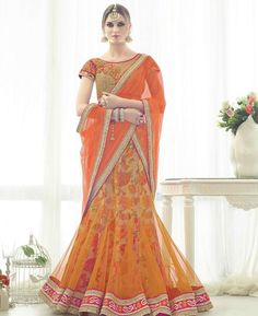Get the best Indian Lehengas for women from our largest collection of Lehenga Cholis for bridal, wedding, festival, party and more at exciting prices. Don't miss and shop online now! latest Indian Lehenga Cholis Online, Shop Bridal Designer Lehengas and G Bollywood Lehenga, Lehenga Choli Online, Bridal Lehenga Choli, Lehenga Saree, Sarees, Indian Wedding Lehenga, Indian Lehenga, Indian Wedding Outfits, Orange Lehenga
