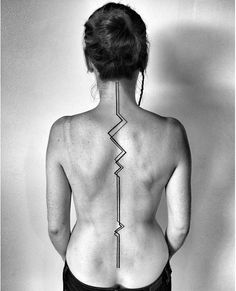 Also by Ben Volt. Geometrical tattoo - inspiration for underboob tat...lines down my side