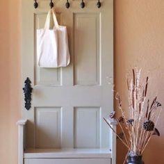 Repurpose for old door.....great idea!