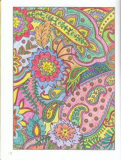 James Geer division) from Paisley Designs Coloring Book… Adult Coloring, Colouring, Coloring Books, Paisley Design, Paisley Print, Paisley Coloring Pages, Fun Patterns, Pretty Pastel, Art Therapy