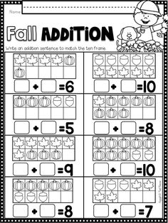 Practice addition to 10 with Tweet Resource's math and literacy NO PREP…