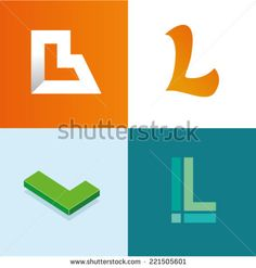 Vector illustration letter l set
