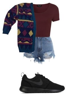 """""""cardigan"""" by queen-miy ❤ liked on Polyvore featuring Topshop and NIKE"""