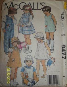 Vintage McCall's 9477 Toddlers' Childrens' jumper by Bigwheel179, $2.00