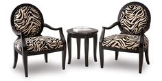 I have this set.  One is in the bedroom w/ the table.  The other is in my living room w/ red leather couches.