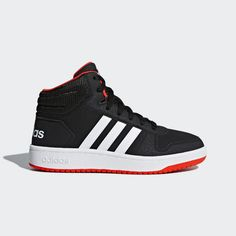2c5688c48853 Hoops 2.0 Mid Shoes Black 1.5 Kids. adidas United States