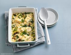Fisch-Spinat-Gratin New Recipes, Macaroni And Cheese, Cravings, Low Carb, Chicken, Meat, Dinner, Ethnic Recipes, Food