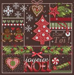 Christmas Tree, Red - Le Sapin Rouge – Cross Stitch Diva