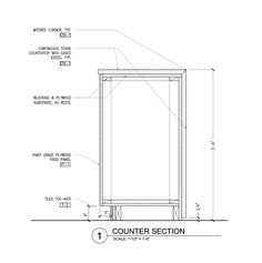 Technical Drawing Autocad Kitchen Cabinetry Section T
