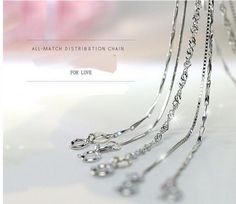 Wholesale Fashion 925 Sterling Solid Silver Chain Necklace 18 inches For Women  #Unbranded #Chain