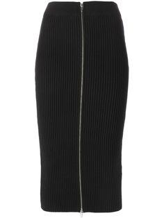 T By Alexander Wang ribbed knit midi skirt