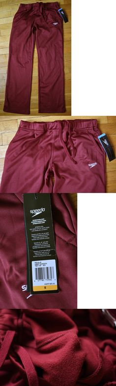 Other Swimming 36269: Speedo Fleece Lined Warm Up Pants Womens Small Nwt Swimming Swim Track Maroon -> BUY IT NOW ONLY: $34.99 on eBay!