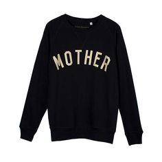 BuySelfish Mother Mother Crew Neck Sweatshirt, Black/Gold, S Online at johnlewis.com
