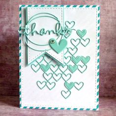 This week on the Wednesday Challenge we are going Die Crazy! DieCember™ is a very special month in the Simon Says Stamp calendar, … Pretty Cards, Love Cards, Mini Albums, Simon Says Stamp Blog, Thanks Card, Heart Cards, Card Making Inspiration, Card Sketches, Card Kit
