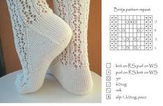 Fair Isle Knitting Patterns, Knitting Paterns, Lace Knitting, Knitting Stitches, Knitting Socks, Lace Socks, Crochet Socks, Knit Or Crochet, Lots Of Socks