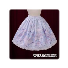 Stardust Fantasia ~Holoscope of Twins Star Kittens~ Skirt via Polyvore featuring skirts and purple skirt