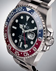"Rolex GMT-Master II In White Gold With ""Pepsi"" Cerachrom Bezel"