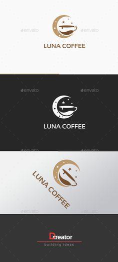 Moon Light Coffee Logo: Food Logo Design Template by stocklogos. Food Logo Design, Logo Food, Cappuccino Art, Cappuccino Recipe, Logan, Breakfast Bar Lighting, Moon Cafe, Moon Logo, Drinks Logo