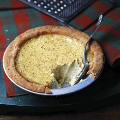 Nutmeg Custard Tart - Creamy and spicy, these classic English custard tarts boast all the hallmarks of our favorite eggnogs. We based this recipe on one from British journalist and cookbook author Hugh Fearnley-Whittingstall. Tart Recipes, Dessert Recipes, Cooking Recipes, Saveur Recipes, Uk Recipes, Custard Recipes, Sweet Recipes, Sweet Pie, Sweet Tarts