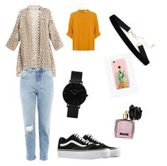 """""""Untitled #3"""" by andreeaberecz on Polyvore featuring Topshop, Vans, CLUSE, The Casery and Victoria's Secret"""
