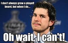 The part of Sidney Crosby's playoff game he's not so great at.