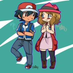 Kawaii ♡ Amourshipping ^.^ ♡ I give good credit to whoever made this