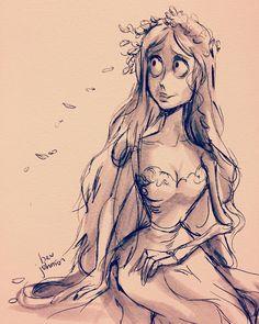 Emily #corpsebride #drawing #art ✨