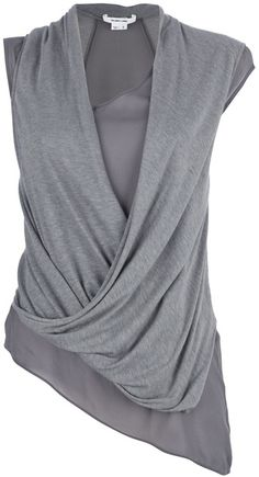 a top like this can conceal a lot, not just love handles. Sleeveless Draped Top - Lyst