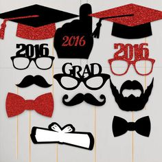 {2016 Graduation Photo Booth Props}