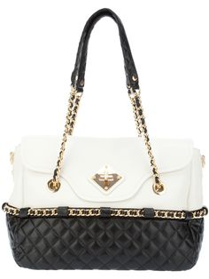 Moschino Quilted Leather Bag - Feathers - farfetch.com