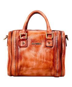Love this Cognac Mini Trunk Leather Bag by OLD TREND on #zulily! #zulilyfinds