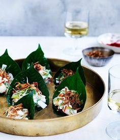 Christine Manfield's coconut crab and green mango salad- Combine crab and 100ml of dressing in a large bowl and stand for 5 minutes for flavours to mingle.