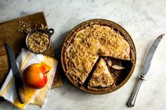Crisp Raw Apple Pie recipe from the NY Times: Quick and healthy version for no-guilt pie eating!