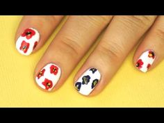 Poppy flowers spring nail art tutorial I Futilities And More