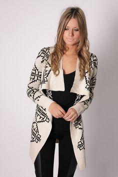 Navajo Cardi jacket - beige and black