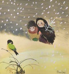 Jiri Trnka, 'Christmas Mood' (watercolor, ink, gouache on paper) Butterfly Illustration, Children's Book Illustration, Lynda Barry, Andersen's Fairy Tales, Winter Fairy, Artist Alley, Winter Images, Visual Diary, Christmas Mood