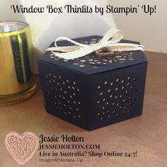 Live in Australia? Shop Online with me Thinlits for Diy Paper, Paper Crafts, Stampin Up Anleitung, Hexagon Box, Pretty Packaging, Stamping Up Cards, Heartfelt Creations, Window Shopping, Box Design
