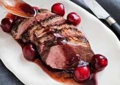 Duck With Cherries and Red Wine Vinegar - had for dinner last night :) :: David Tanis - NYTimes