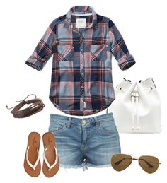 Summer casual by melissa-jane-stevenson on Polyvore featuring polyvore moda style Abercrombie & Fitch American Eagle Outfitters Sole Society Zodaca Ray-Ban fashion clothing