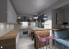 Apartament, Kraków - Ruczaj - Kuchnia - Styl Skandynawski - Pogotowie Projektowe Aleksandra Michalak