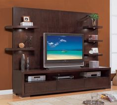 Flat Screen TV Wall Designs | Lcd Wall Units Design for Your Modern ...