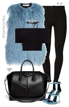 Blues by highfashionfiles on Polyvore featuring polyvore fashion style Rosetta Getty Oscar de la Renta (+) PEOPLE Giuseppe Zanotti Givenchy Fallon Harry Kotlar clothing
